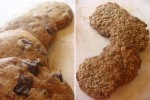 Choc Chip and Oatmeal Cookies