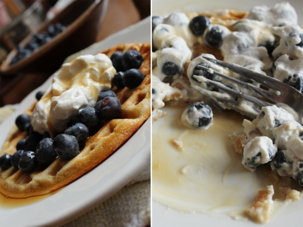 Meyer Lemon Waffles Before and After
