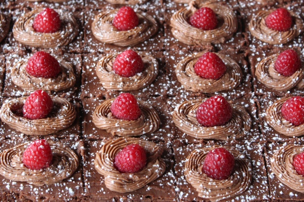 Raspberry Garnish Cakes