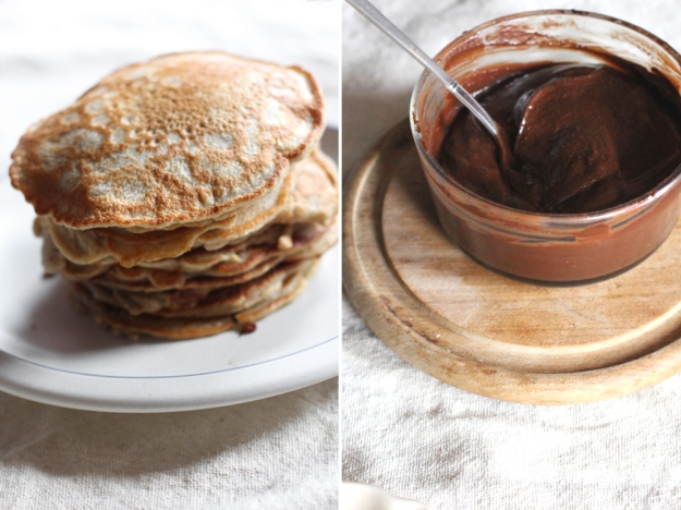 Beautiful Pancakes and Nutella