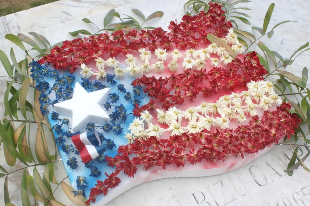 Puerto Rico Flower Flag
