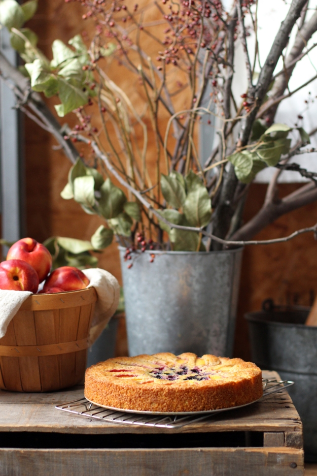 Cake and Nectarines