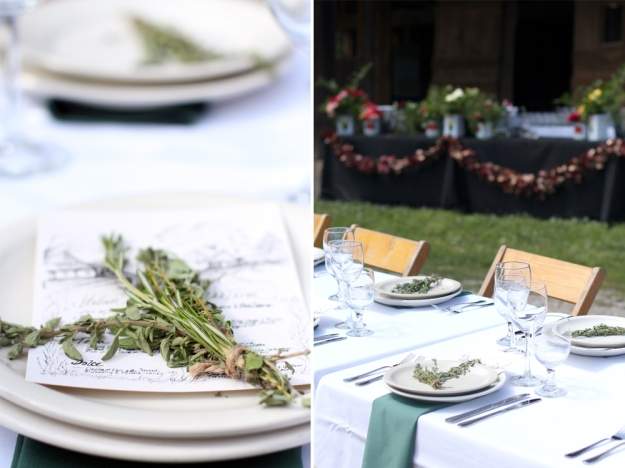 Herb Bundle Place Setting