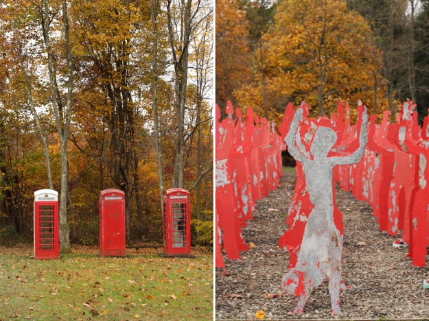 Telephone Boothes and Red Dancer