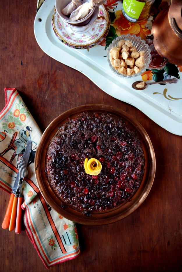 Cranberry Upside Down Cake-With The Grains