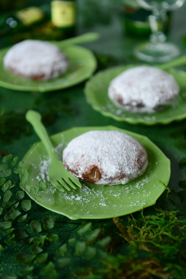 Gluten-Free Brown Rice Donut with Irish Coffee Custard by With The Grains
