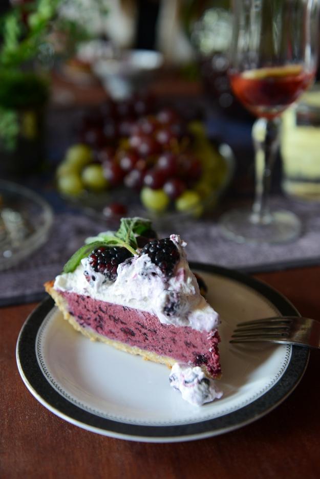Frozen Blueberry Tart with Lavender Coconut Crust (Gluten-Free & Vegan) // www.WithTheGrains.com