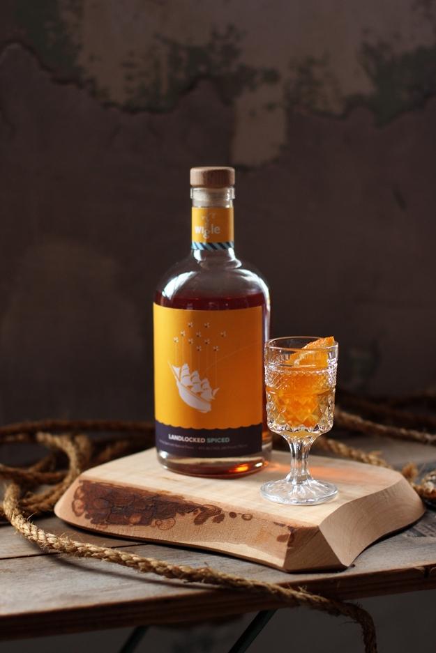Whole Wheat Orange Honey Cake with @WigleWhiskey Landlocked Spiced // www.WithTheGrains.com